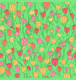 seamless pattern with cute cartoon colored vector image vector image