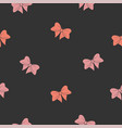 seamless pattern with pink and red bow vector image