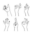 set different gestures isolated collection of vector image