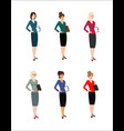 set of character business woman vector image