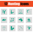 set of hunting icons vector image vector image