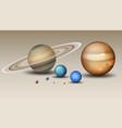 set of solar system element vector image