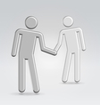 shake hands deal vector image vector image