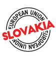 slovakia stamp on white vector image