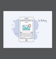 sms marketing icon vector image vector image