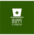 St Patricks Day flat card design vector image vector image