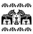 Swedish Dala or Daleclarian horse black and white vector image vector image