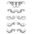 Swirl elements and retro monograms vector image vector image
