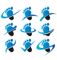 Swoosh Feet Logo Icons vector image vector image