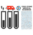 test tubes icon with 1300 medical business icons vector image vector image