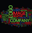 the keys to a great logo text background word vector image vector image
