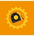 Tool box measure tape construction icon design vector image