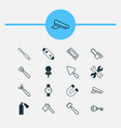 tools icons set collection of password putty vector image vector image