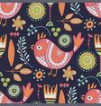 tribal bird seamless pattern vector image vector image