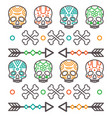 tribal skulls pattern vector image