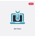 two color seo tools icon from programming concept vector image vector image