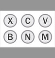 typewriter keys xcvbnm vector image