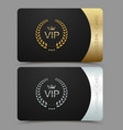 vip golden and platinum card black vector image