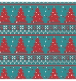 Xmas ornaments - seamless knitted background vector image