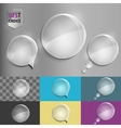 Round glass speech bubble icons with soft shadow vector image