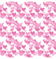 valentines day seamless pattern heart endless vector image