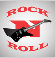 poster to the world day of rock n roll black vector image