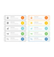 10 data infographics tab index template with thin vector image vector image