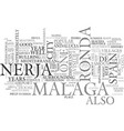 a visit to ronda malaga and nerja spain text word vector image vector image