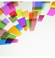 Abstract bright color squares fly vector image vector image