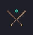 baseball computer symbol vector image vector image