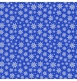 Blue Christmas Snowflakes Pattern vector image vector image