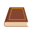 book closed icon flat style vector image vector image