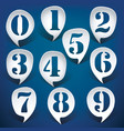 Bubble speech numbers vector image vector image