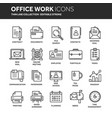 business and office work documents paperwork vector image vector image