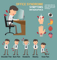 business man have office syndrome symptoms and vector image vector image