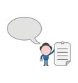 businessman character with speech bubble and vector image vector image