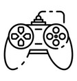 button joystick icon outline style vector image vector image