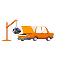 car service and repairing changing engine auto vector image vector image