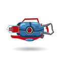 cartoon retro space blaster ray gun laser weapon vector image vector image