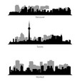 collection ef canadian cities skylines vector image vector image