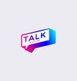 colorful gradient bubble talk logo design template vector image vector image