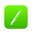 dagger icon digital green vector image vector image