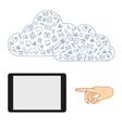 Demonstration screen tablet vector image vector image