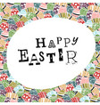 easter eggs pattern colorful background and happy vector image