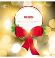 elegant christmas background with red ribbon and p vector image
