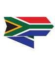 flag of south africa on a label vector image vector image