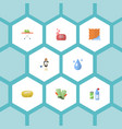 flat icons means for cleaning housekeeping vector image vector image