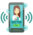 flat mobile doctor personalized medicine vector image vector image