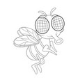 fly cartoon character design isolated on white vector image