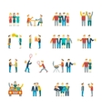 Friends icons flat vector image vector image